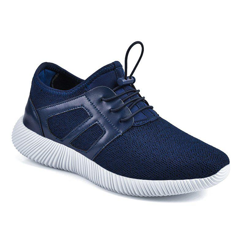 Men'S Autumn and Winter Shoes Breathable Lightweight Woven Sneakers Casual Shoes - BLUE 44