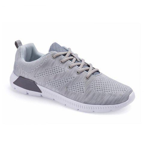 2017 Autumn and Winter New Flying Sports Casual Men'S Shoes - GRAY 40