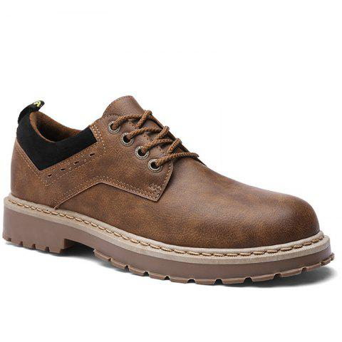 2017 New Autumn and Winter Men'S Casual Shoes Martin Boots - BROWN 40