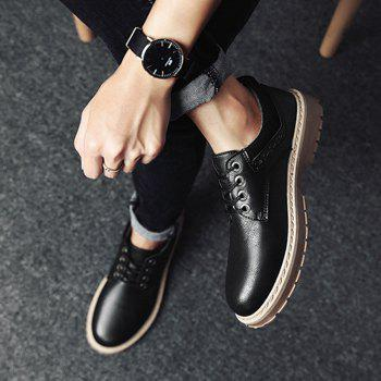 2017 New Autumn and Winter Men'S Casual Shoes Martin Boots - BLACK 40