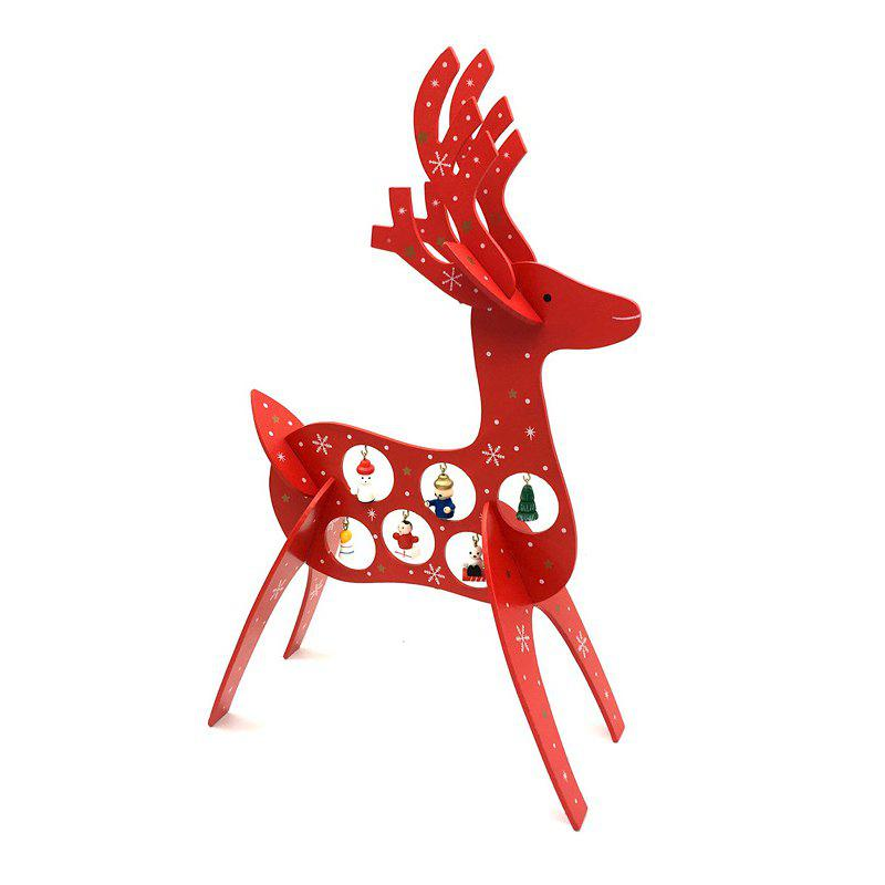 Creative Wood DIY Christmas Moose Reindeer - RED
