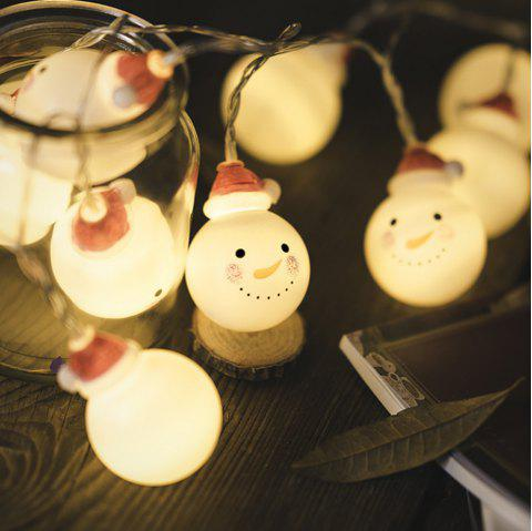 Christmas Baby Snow Headlights Holiday Decorations Warm White with Batteries - WHITE