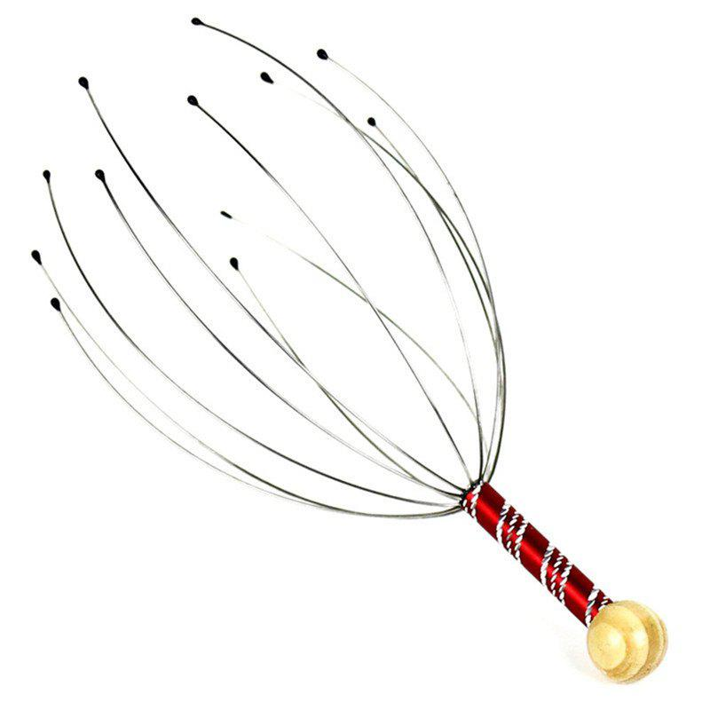 Hand Held Scalp Head Massager - RED