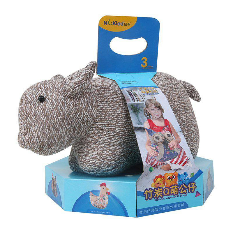Bamboo-Carbon Q Adorable Pig Doll - GRAY
