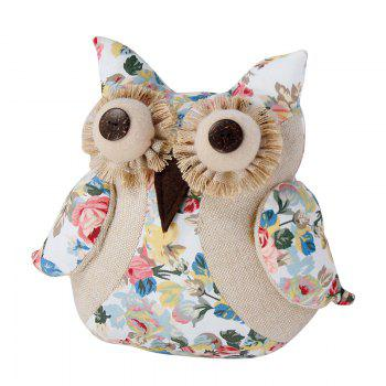 Bamboo-Carbon Adorable Q Adorable Owls Doll - FLORAL