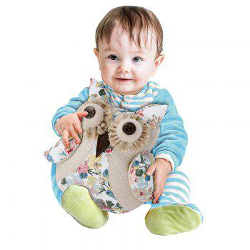 Bamboo-Carbon Adorable Q Adorable Owls Doll - FLORAL FLORAL