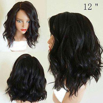 130% Short Bob Wigs Glueless Lace Front Wigs for Black Women - NATURAL BLACK 10INCH