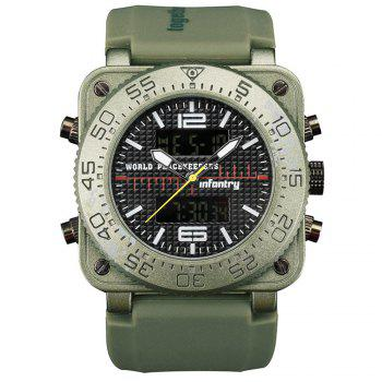 INFANTRY 001 4875 Casual Fashion Trend Band Calendar Men Watch - GREEN GREEN