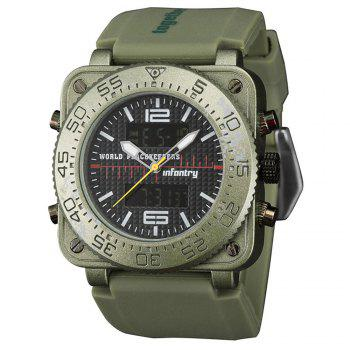 INFANTRY 001 4875 Casual Fashion Trend Band Calendar Men Watch -  GREEN