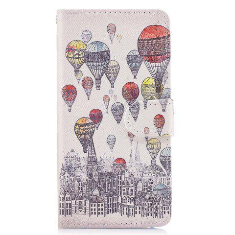 Dandelion Painting Card Lanyard Pu Leather Cover for LG G6 - LIGHT GRAY