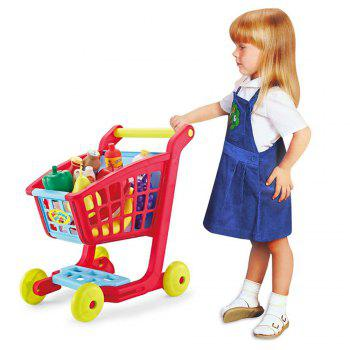 Children Shopping Cart with Full Grocery Food Toy -  COLORMIX