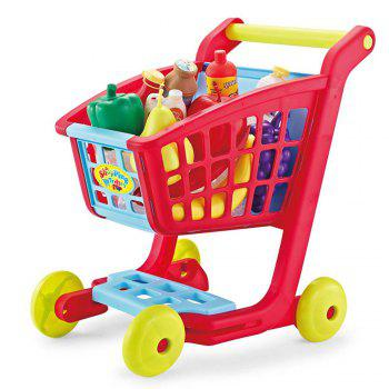 Children Shopping Cart with Full Grocery Food Toy - COLORMIX COLORMIX