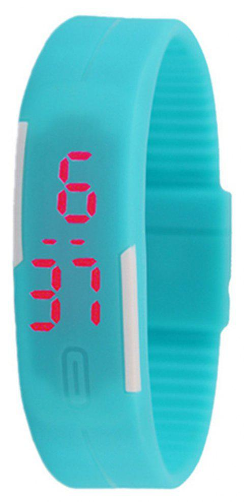 Silicone Rubber Gel Jelly LED Wrist Watch Bracelet Men Women - BLUE