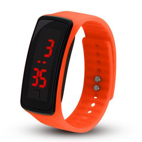 Men Women LED Digital Bracelet Watch - ORANGE