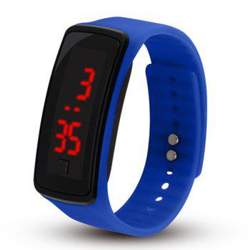 Men Women LED Digital Bracelet Watch - DEEP BLUE DEEP BLUE