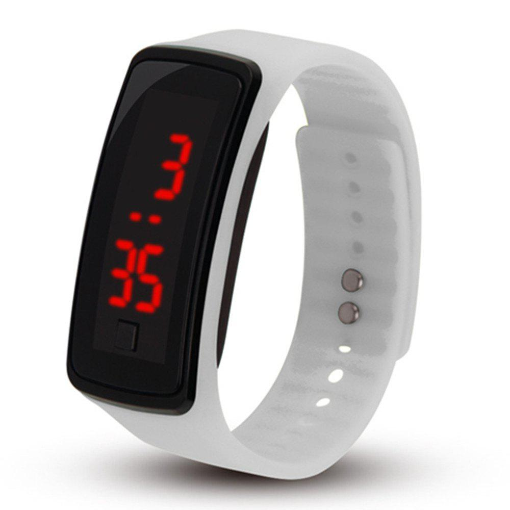 Men Women LED Digital Bracelet Watch - WHITE