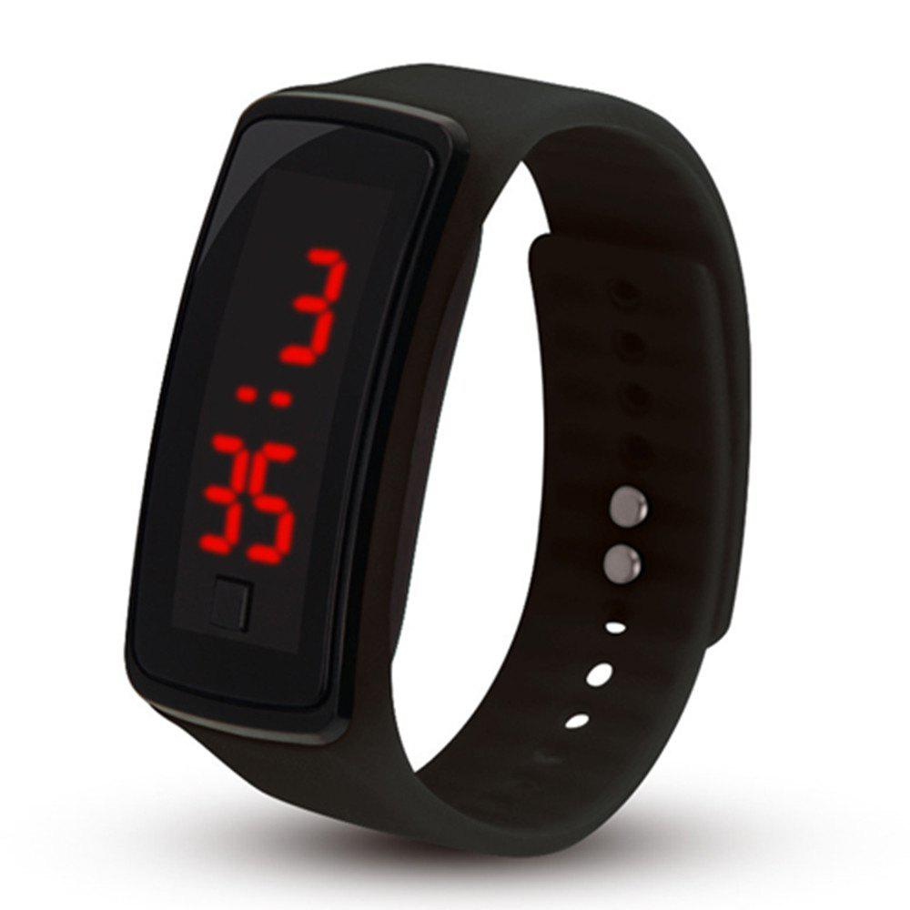 Men Women LED Digital Bracelet Watch - BLACK