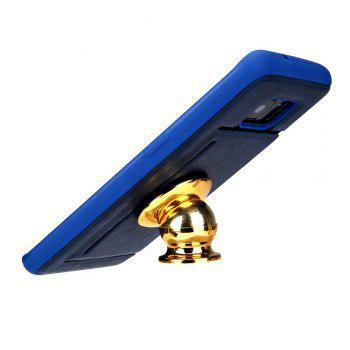 Solid Color Suction Tape Bracket TPU Phone Case for Samsung Galaxy S7 - CERULEAN
