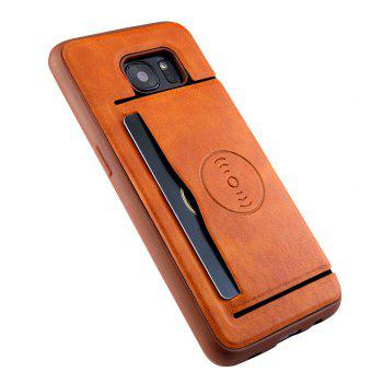 Solid Color Suction Tape Bracket TPU Phone Case for Samsung Galaxy S7 - ORANGE