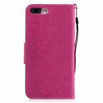 Embossed Peach Butterfly PU TPU Phone Case for iPhone 7 Plus / 8 Plus - SANGRIA