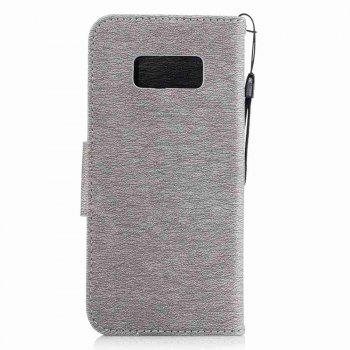 Embossed Electric Bear PU TPU Phone Case for Samsung Galaxy S8 - GRAY