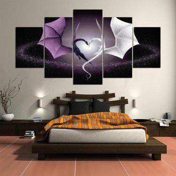 YSDAFEN 2017 New Style Frameless Painting 5 Panel for Bedroom Living Room Home Decor - COLORMIX 30X40CMX2+30X60CMX2+30X80CMX1(12X16INCHX2+12X24INC