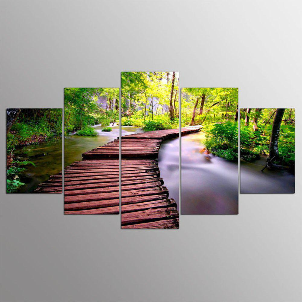 YSDAFEN 5 Panel Modern Small Bridges Hd Canvas Paintings for Living Room Wall Picture - COLORMIX 30X40CMX2+30X60CMX2+30X80CMX1(12X16INCHX2+12X24INC