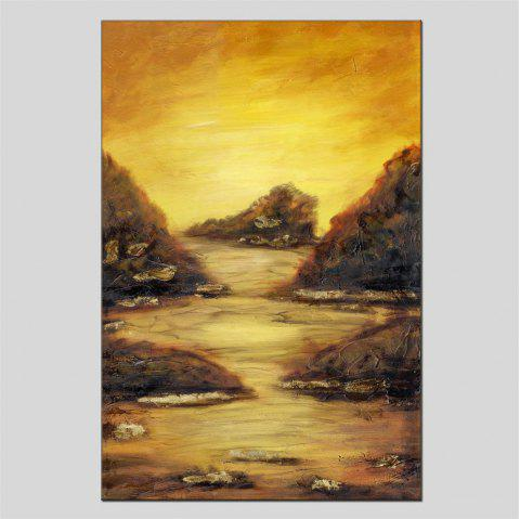 Hua Tuo Landscape Oil Painting Size 60 x 90CM HT-1634 - YELLOW 24 X 36 INCH (60CM X 90CM)