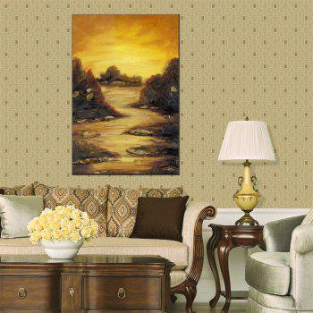 Hua Tuo Landscape Oil Painting Size 60 x 90CM HT-1635 - YELLOW 24 X 36 INCH (60CM X 90CM)