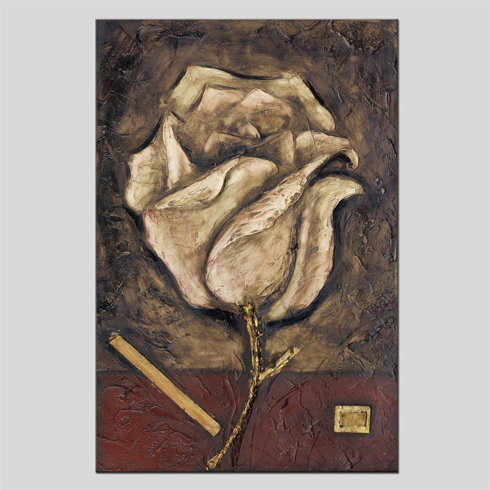 Hua Tuo HT - 1637 Flower Style Oil Painting - BROWN 24 X 36 INCH (60CM X 90CM)