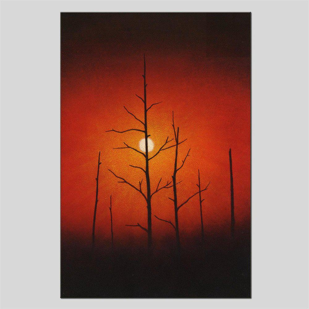 Hua Tuo Sunrise Oil Painting Size 60 x 90CM HT-1640 - RED 24 X 36 INCH (60CM X 90CM)