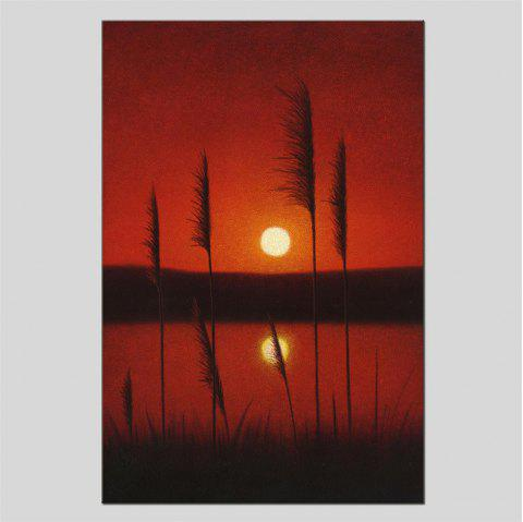 Hua Tuo Sunrise Oil Painting Size 60 x 90CM HT-1641 - RED 24 X 36 INCH (60CM X 90CM)