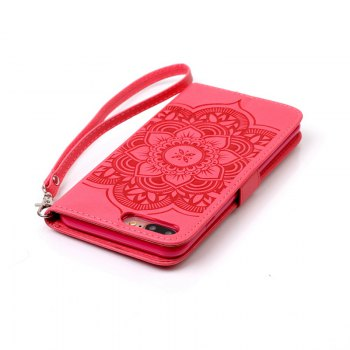 Wind Chime Leather Case with Water Drill for iPhone 7 Plus / 8 Plus - RED