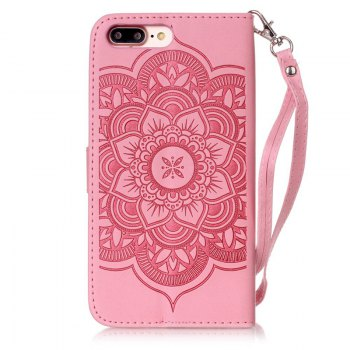 Wind Chime Leather Case with Water Drill for iPhone 7 Plus / 8 Plus - PINK