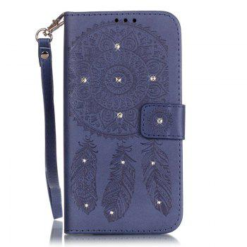 Wind Chime Leather Case with Water Drill for iPhone 7 Plus / 8 Plus - BLUE