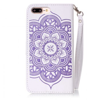Wind Chime Leather Case with Water Drill for iPhone 7 Plus / 8 Plus - PURPLE