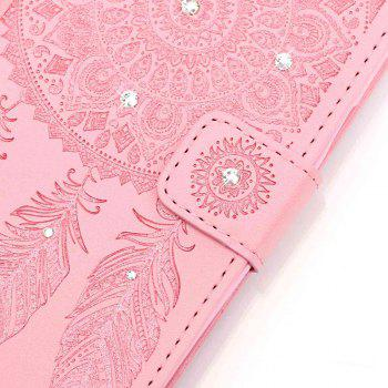 Wind Chime Leather Case with Water Drill for iPhone 7 / 8 - PINK