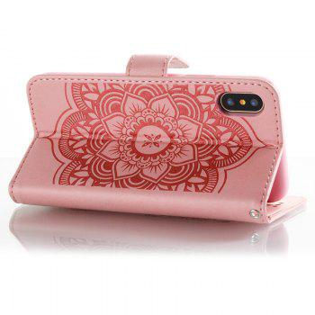 Wind Chime Leather Case with Water Drill for iPhone X - PINK