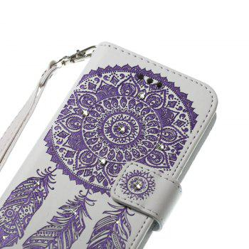Wind Chime Leather Case with Water Drill for Samsung Galaxy Note 8 - PURPLE