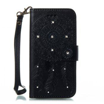 Wind Chime Leather Case with Water Drill for Samsung Galaxy Note 8 - BLACK