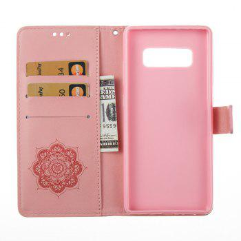 Wind Chime Leather Case with Water Drill for Samsung Galaxy Note 8 - PINK