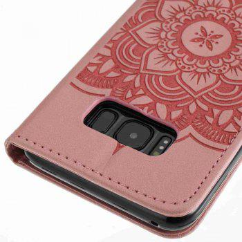 Wind Chime Leather Case with Water Drill for Samsung Galaxy S8 - PINK