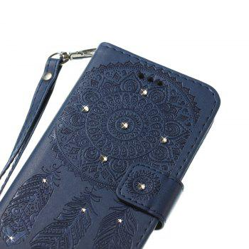 Wind Chime Leather Case with Water Drill for Samsung Galaxy S8 - BLUE