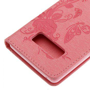 Butterfly and Flower Leather Case Cover with Water Drill for Samsung Galaxy Note 8 - PINK