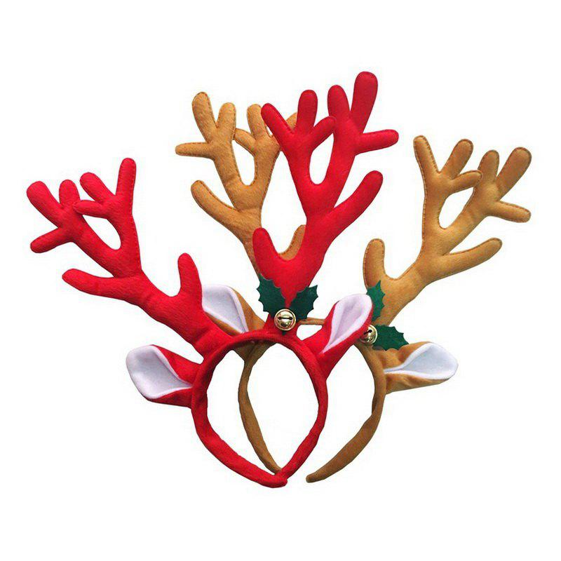 2pcs Good Quality Christmas Antler head hoop - COLORMIX