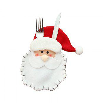 3pcs Good Quality Christmas Knife And Fork Bags -  COLORMIX