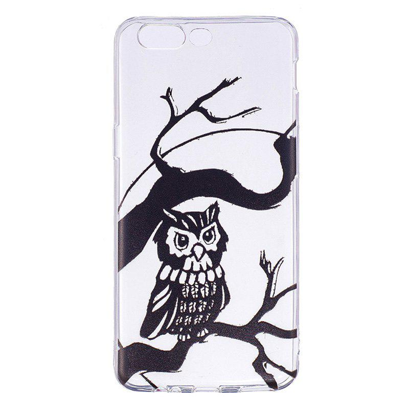 Owl Pattern Soft TPU Clear Case for OnePlus 5 - TRANSPARENT