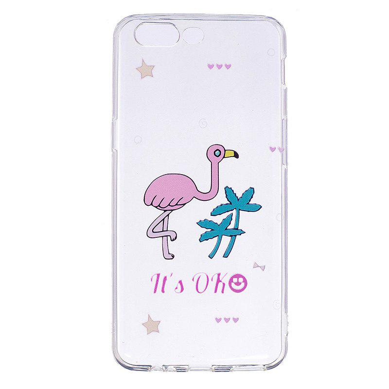 Ostrich Pattern Soft TPU Clear Case for OnePlus 5 - TRANSPARENT
