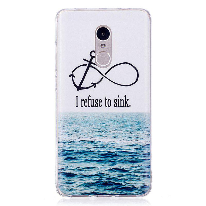 Sea Pattern Soft TPU Clear Case for Xiaomi Redmi Note 4 - TRANSPARENT