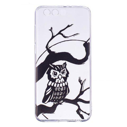 Owl Pattern Soft TPU Clear Case for Huawei Honor 9 - TRANSPARENT